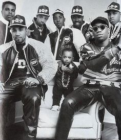 Boogie Down Productions with their founder Lawrence Parker a.k.a. KRS-1 (front right)