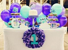 34 Creative Girl First Birthday Party Themes & Ideas - Balloon Party ~ I love this idea. Simple and will WORK