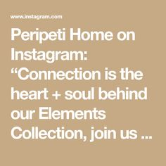 """Peripeti Home on Instagram: """"Connection is the heart + soul behind our Elements Collection, join us this week as we look at the symbolism behind each scent and ways to…"""" Behind, Connection, This Is Us, Fragrance, Join, Symbols, Heart, Instagram, Perfume"""