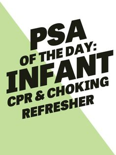 The holidays are upon us and that may mean you'll be entertaining family, maybe family with babies. What a great time for an infant CPR and choking primer! Y'all know I love a PSA.  Check it HERE, ...