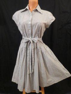 NORMA KAMALI shirt dress - $29.99 at JOHNNY BOMBSHELL #retro #shirtdress #rockabilly #pinstripe
