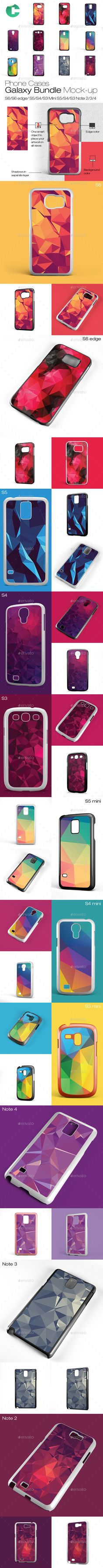 Galaxy Pack Cases mock-up - 2d sublimation cases - Mobile Displays