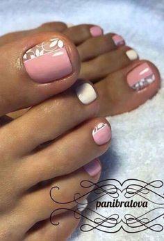 Niedliches Blumen Nagellack Design – - New Sites Pretty Toe Nails, Cute Toe Nails, Toe Nail Art, My Nails, Acrylic Nails, Pretty Toes, Toe Nail Designs, Nail Polish Designs, Cute Toenail Designs