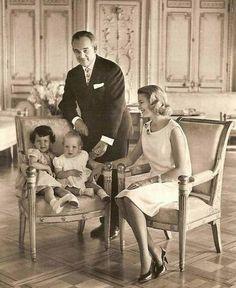 Rainier and  Grace of Monaco with Caroline and Albert