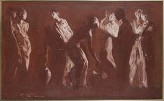 Georges von Swetlik Bukowski, Red, Study, Painting, Studio, Painting Art, Paintings, Studying, Painted Canvas
