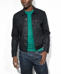 Levi's Slim Fit Trucker - Black - The Slim Trucker