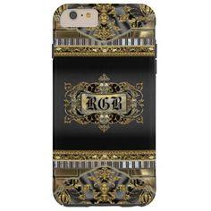 Mentorsteen Elegant Victorian Monogram Tough iPhone 6 Plus Case
