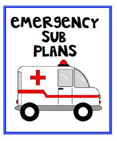 Ideas for emergency sub plans and FREE printables