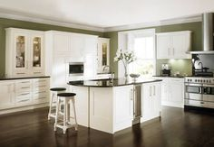 Heritage Bone Wickes kitchen  White and I would never work out in the kitchen, but a girl can dream.