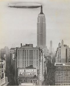 First time I've come across this historical shot of a U.S. Navy dirigible docked at the ESB.