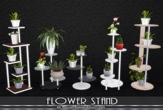 Sims Creativ: Flower stand by HelleN • Sims 4 Downloads