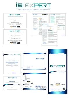 Logo + cartes de visite + identité visuelle / SSII