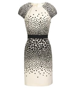 d987fc1f85a9b7 Clover printed cotton and silk dress from Giambattista Valli.