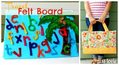 Miss Lovie: Travel Felt Board Tutorial: Kicking off the Back To School Event!