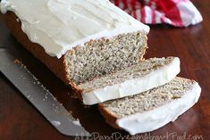 Low Carb Gluten-Free Frosted Banana Bread