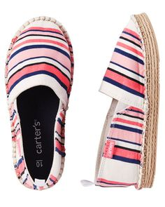 Toddler Girl Carter's Slip-On Espadrilles from Carters.com. Shop clothing & accessories from a trusted name in kids, toddlers, and baby clothes.
