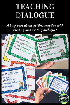 Teaching Dialogue and Why It's So Important! - The Teacher Studio Personal Narrative Writing, Informational Writing, Pre Writing, Cool Writing, Writing Lessons, Writing Workshop, Writing Resources, Personal Narratives, Writing Process
