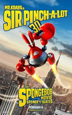 Mr. Krabs is Sir Pinch-a-Lot in The SpongeBob Movie: Sponge Out of Water