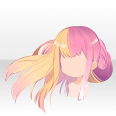 Anime hair pink and yellow/blonde Pelo Anime, Manga Anime, Hair Reference, Drawing Reference, Drawing Tips, Character Inspiration, Character Design, Chibi Hair, Manga Hair