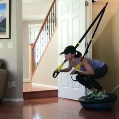 Fitness Workouts, Trx Workouts For Women, Trx Full Body Workout, Bosu Workout, Sport Fitness, Belly Fat Workout, At Home Workouts, Trx Workout Routine, Trx Home Gym
