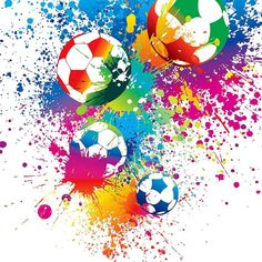 vipsung Sports Decor Tablecloth Colored Splashes All over the Soccer Balls Score World Cup Championship Athletic Artful Print Dining Room Kitchen Rectangular Table Cover Soccer Pro, Girls Soccer, Soccer Games, Soccer Players, Soccer Stats, Soccer Books, Soccer Bedroom, Football Bedroom, Art Football