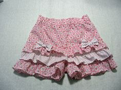 PLUS a FREE Shirred Top pattern and sewing tutorial. The Silly Frilly Shorts are just perfect for summer, easy to make and comfy to wear, your girls will love them. A great alternative to a skirt and just as pretty. Mix and match fabrics to get the style you like --- soft and feminine or bright and beachy. The fit is loose and fluffy and the length is just to mid thigh, more like a little skirt than shorts.