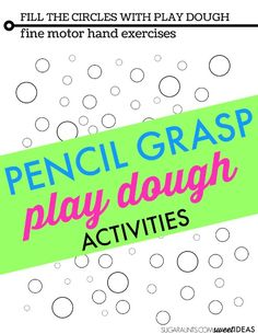 Hand strengthening intrinsic muscle strengthening with play dough and a free re-usable play dough mat.