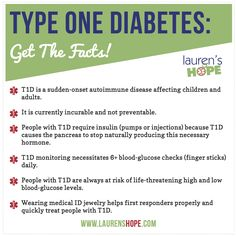 Type One Diabetes: Get The Facts! An infographic from Lauren's Hope!