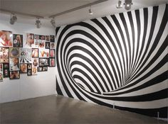 Fine artist and designer INSA creates elaborately painted walls that are photographed in sequence to create these amazing, psychedelic animated gifs.