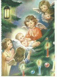 Imagen de la Adoración de los Ángeles al Niño Dios en el librito 5 minutos de oración en familia 2008