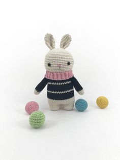 Amigurumi Bunny Doll, Crochet Bunny, Stuffed Rabbit Plush Doll, Crochet Animal, Amigurumi Easter, Softie Doll, Stuffed Animal, Crochet Toy by MossyMaze on Etsy https://www.etsy.com/listing/515224097/amigurumi-bunny-doll-crochet-bunny