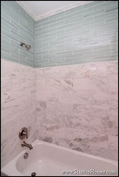 Bathroom Tiles To Ceiling dress up a boring white tile bathroom with colored accent tile to