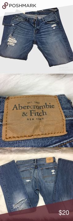 Mens Abercrombie & fitch ripped jeans Mens Abercrombie & fitch ripped jeans Abercrombie & Fitch Jeans Straight