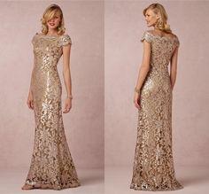 Online Shop Elegant Champagne Mother Of The Bride Dress Boat Neck Cap Sleeve Vestido De Festa Longo 2015 Mermaid Lace Evening Dresses|Aliexpress Mobile