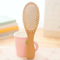 New Air Hair Paddle Hair Brush wooden Color, Good Quality Healthy Paddle Cushion round Hairbrush For Scalp Message CT030