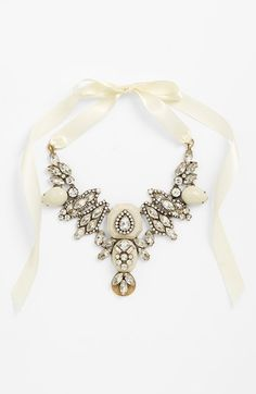 Free shipping and returns on Tasha Ribbon Collar Necklace at Nordstrom.com. Add a touch of vintage glamour to your look with a shimmering, crystal-encrusted collar necklace.