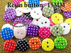 200PCS 10 color  mixed 15 MM RESIN buttons sweater SHIRT CLOTHING button clothes accessory crafts R-139 $5,60