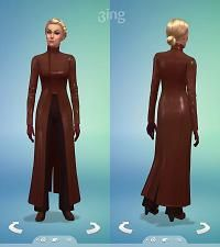 Mod The Sims - Female Oracle Suit (Brown)