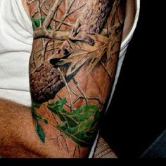 Mossy Oak Tattoo!!! #camo #camotattoo #tattoo For more Cute n' Country visit: www.cutencountry.com and www.facebook.com/cuteandcountry