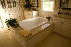 Bathroom-modern-tub-with-plants
