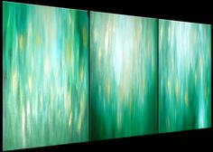Original Green Abstract Painting, Large Green Original Painting Lafferty - 36X72, Sale 22% Off. $249.00, via Etsy.