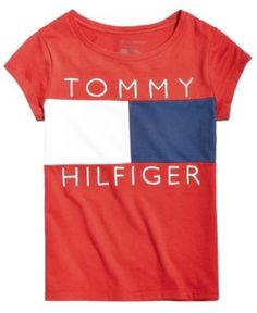 91969031ae7 Tommy Hilfiger Big Girls Logo Flag T-Shirt   Reviews - Shirts   Tees - Kids  - Macy s