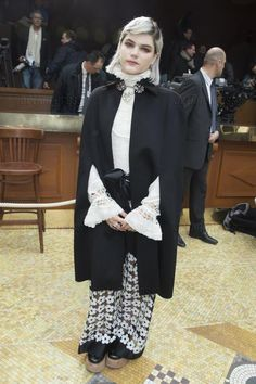 Soko wearing Mishka shoes at Chanel's Fall 2015 Show