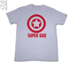 Super Hero Dad TShirt   CA Red Ink    by REVOLUTION46R46 on Etsy, $18.00