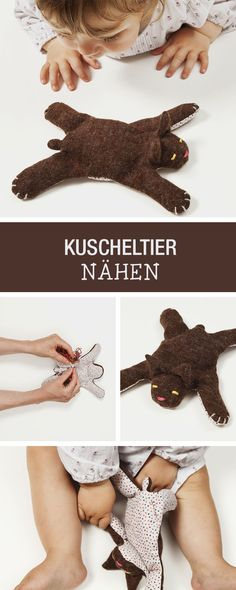 DIY-Anleitung: Kuscheltier für Deinen kleinen Schatz nähen, Teddybär / DIY tutorial: sewing soft toy for your little one, teddy bear via http://DaWanda.com