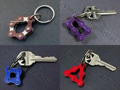 Bicycle Chain Key Rings Keychains