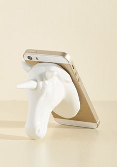 Of Mythical Prop-ortions Phone Stand. Your hands are full of kitchen goodies, but you know this recipe won't make itself. #white #modcloth