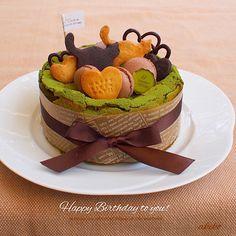 akiko's dish photo 抹茶のガトーショコラ | http://snapdish.co #SnapDish #パーティー #お誕生日 #チョコレート #抹茶の日(2月6日) #ケーキの日(1月6日)