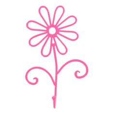 Decorative hooks are beautiful and functional and quickly take your home and office decor from blah to spectacular. Use them to enliven entryways, kitchens, baths and more. Pink Cast Iron Flower Hook measures approximately 4 wide x 7 tall x 1 deep. Hot Pink Flowers, Metal Flowers, Coral Bedroom, Girls Bedroom, Confetti Wall, Baby Room Diy, Diy Baby, Wall Decor Online, Art Craft Store