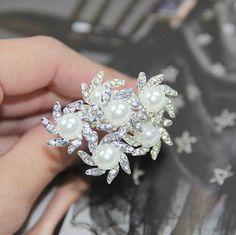6Pcs-Pretty-Pearl-Crystal-Flower-Wedding-Party-Bridal-Hair-Pins-Hair-Clip